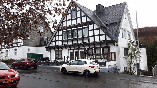 Fredeburg, Tyskland: Voorzijde hotel