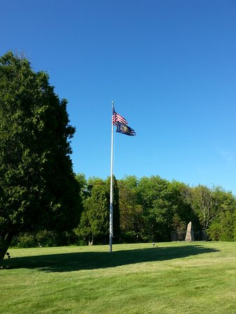 Jeannette, PA: Old Glory standing tall over the battlefield. <3