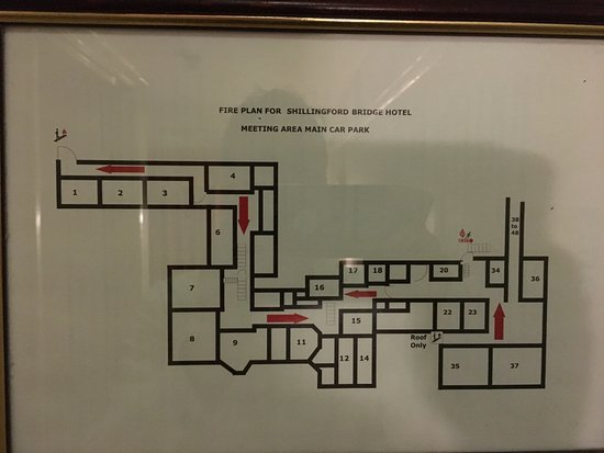 Shillingford, UK : The room layouts. Avoid Room 18. It's tiny. And Dirty.