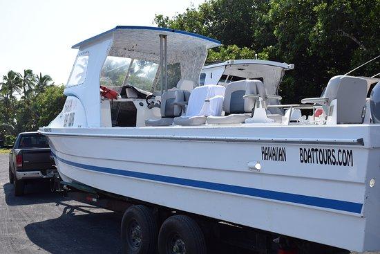 Pahoa, Hawái: The boat