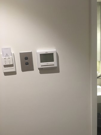 The tradesman that installed the electronics on the wall definitely need an eye test, not even c