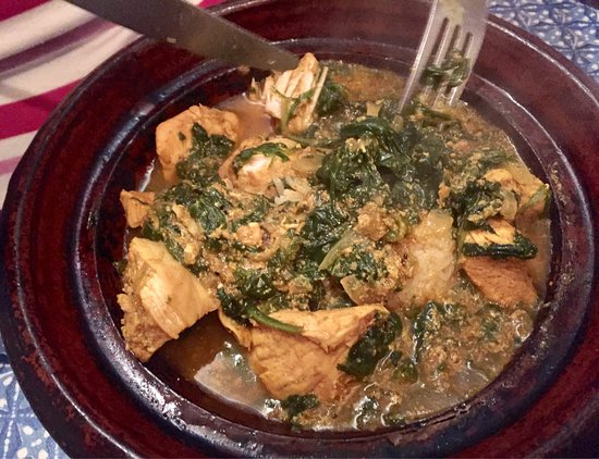 Cafe Maroc: Chicken & Spinach Tajine