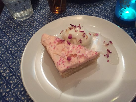 Cafe Maroc: Rose Cake & Ice Cream - Dessert for £12:95 Set Menu - Very Nice