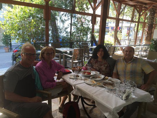 Marousi, กรีซ: A table on the terrace