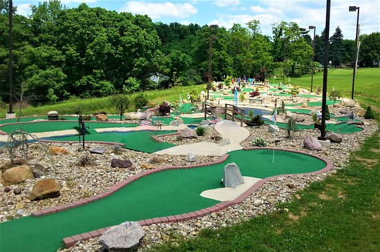 North Huntingdon, PA: A view of the mini golf course...