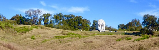 Vicksburg National Military Park: The battlefield interspersed with various regimental and state monuments