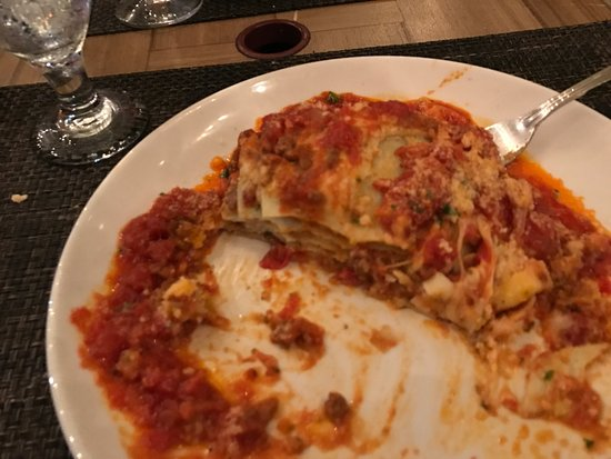 Cesare's At The Beach: LASAGNE VERDI Huge layers of homemade pasta, meat sauce, béchamel sauce and Parmesan cheese