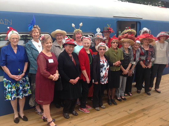 Paraparaumu, Nya Zeeland: All happy during the Christmas hat parade, judged by Alan.