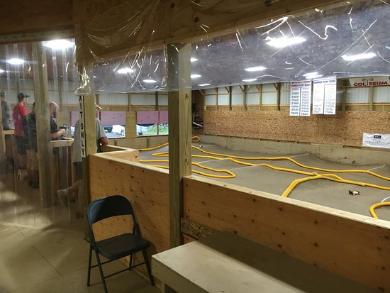 Granger, IN: upper level for drivers indoor track