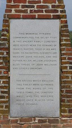 Temperanceville, VA: Reverend Francis Makemie marker