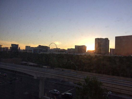 Renaissance Las Vegas Hotel--Renaissance Las Vegas Hoteiew of sun rise from room