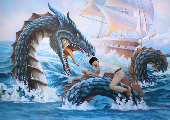 Trickeye Museum: Fight a water dragon