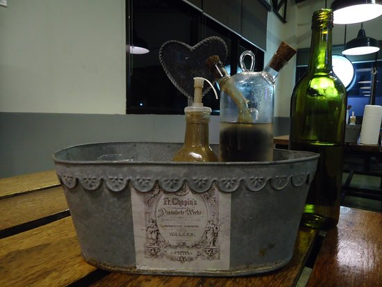 Palo, Filipinas: A unique way of presenting condiments.  Cool!