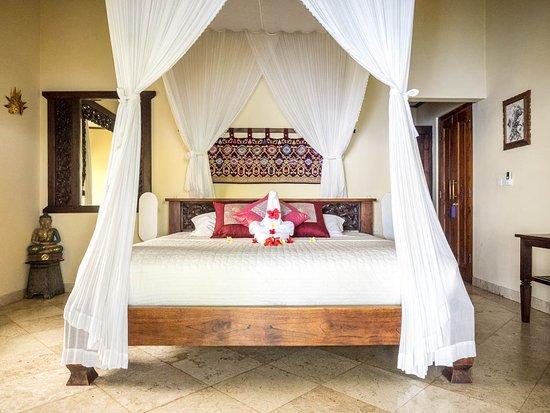 Blue Moon Villas: our villa bedroom