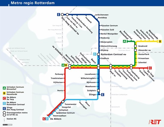 Subway map of Rotterdam Picture of Grand Hotel Central Rotterdam