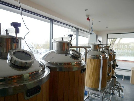 Hoghton, UK: Our own onsite microbrewery.