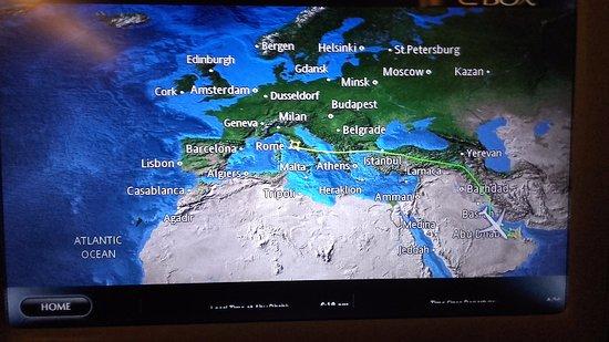 Flight map Picture of Etihad Airways TripAdvisor
