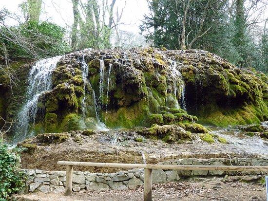 Gemenos, Francia: Une des cascade que l'on peu y voir, je la trouve si belle avec ça mousse et ses relief...