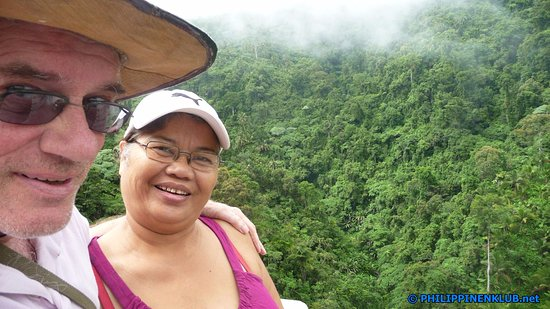 Sogod, Filipinas: Meine Frau und ich auf der Rückreise von den Camotes Inseln nach Mindanao auf der Agas-Agas Brüc
