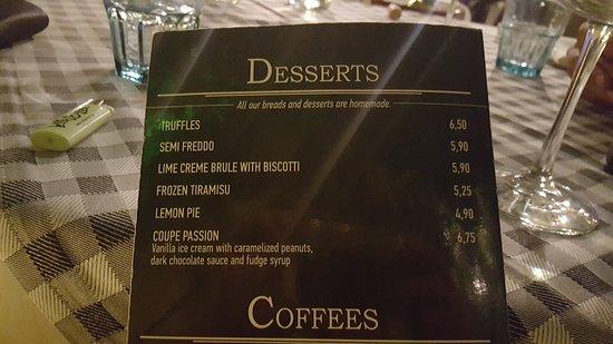 Wonder : desserts prices