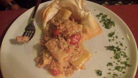 A new dish on the menu that night. Forgot the name but it was a pasta with a tuna ragu sauce.