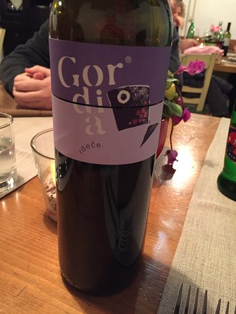 Sezana, Slovenia: red wine recommended by the chef