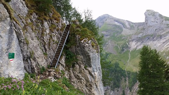 Lauenen, สวิตเซอร์แลนด์: Abstieg zum Chüetungel