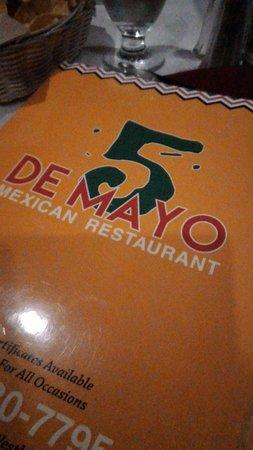 5 De Mayo Mexican Restaurant: menu