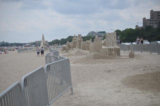 Revere, ماساتشوستس: sand sculpture