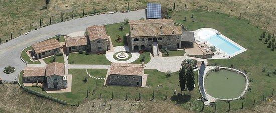 Serre di Rapolano, Włochy: vista generale dall'alto