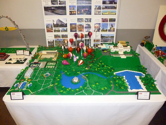 Belleville, IL: Lego Display of St. Louis' Forest Park