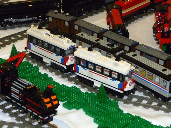 Belleville, IL: Lego Model of a St. Louis MetroLink train