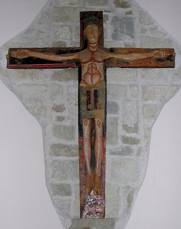Arquata del Tronto, Italie : L'antico Crocifisso ligneo (sec. XIII)