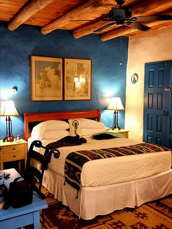 Chimayo, NM: Our Room with Cozy SW style