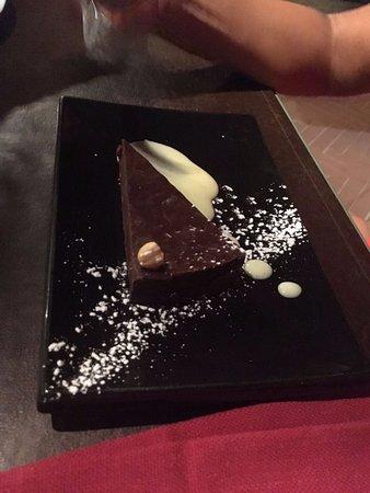Villamagna, Italia: mattonella al cioccolato...
