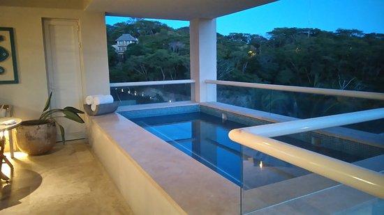 La Cruz de Huanacaxtle, México: Pool on balcony of master ocean view suite 2nd floor
