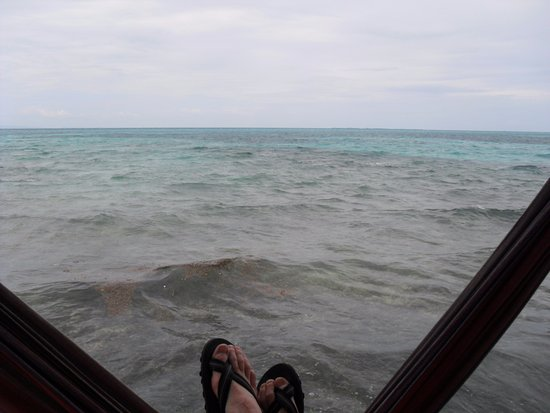 Tobacco Caye, Belize: View from the deck of Cabin 2. Not bad, right?