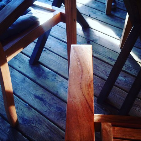 Skien Municipality, Norway: Cool wooden furniture