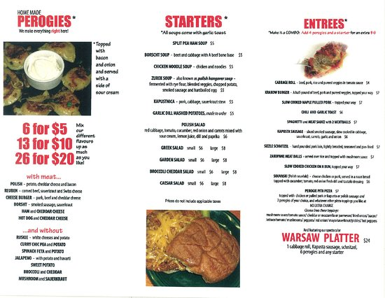 Meaford, Canadá: or menu we also sell frozen and encourage pre ordering to ensure we have what you are looking fo