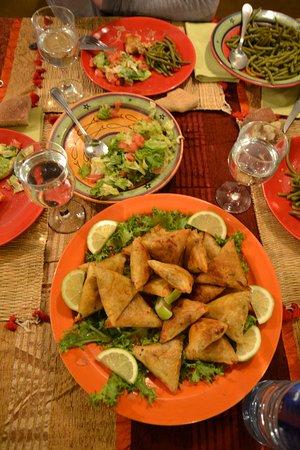 Riad Ker Saada : Repas proposé par le Riad, délicieux