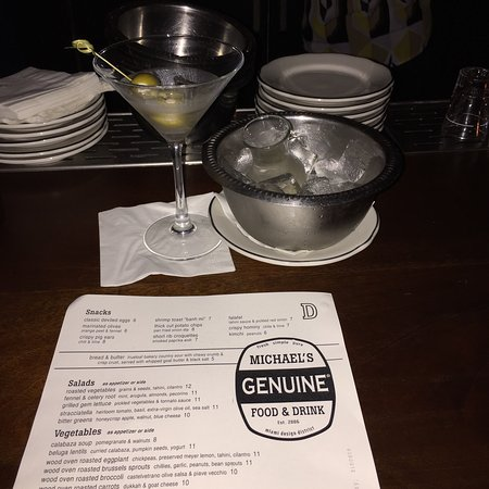 Michael's Genuine Food & Drink: Great way to keep the vodka cold