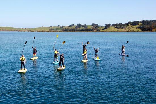 Matakana, Nueva Zelanda: Stand up paddle boarding Omaha