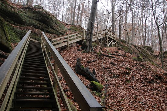 Loudonville, OH: Stairs at Lyon Falls