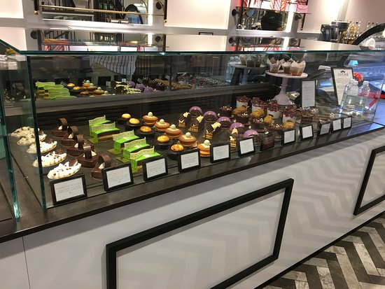 Small PastryChocolates Display Window Picture of Sucre French