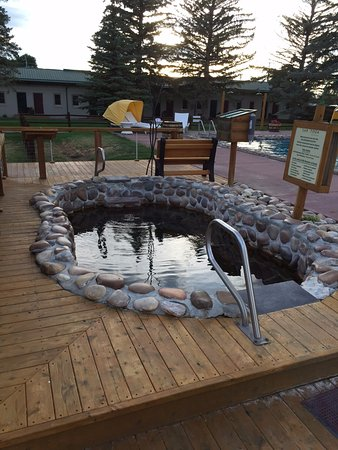 Saratoga, WY: Open hot springs with hot spring pool in background
