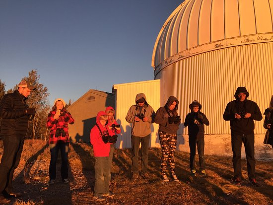 """Mount Lemmon, AZ: Getting ready to view the """"green flash"""" at sunset."""