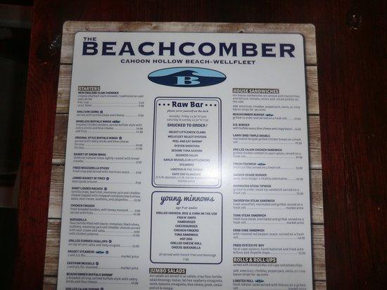 Wellfleet Beachcomber: Karte