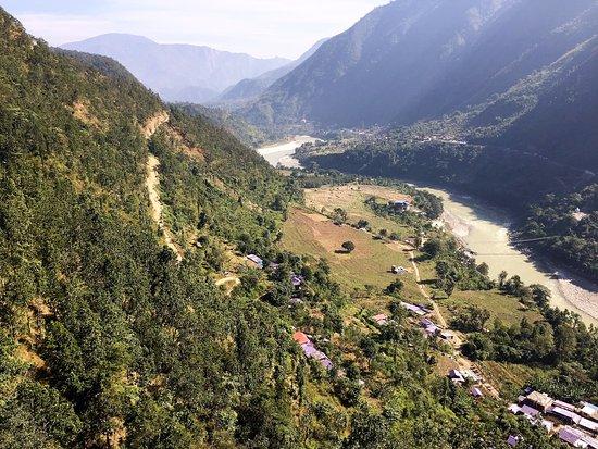 Kurintar, نيبال: Scene from cable car