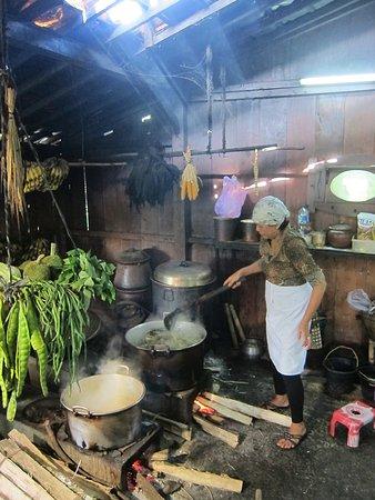 Open old style Javanese kitchen