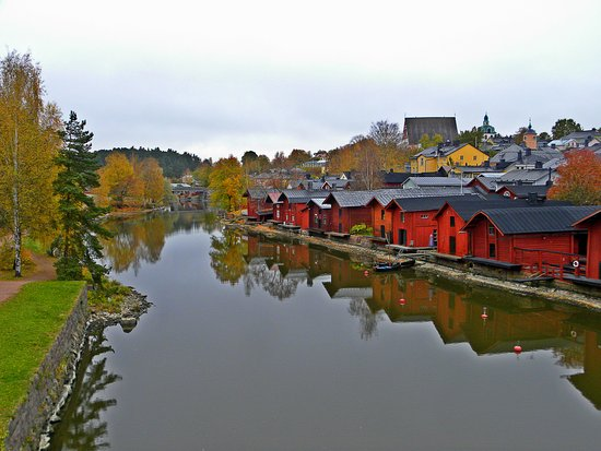 Porvoo, Finland: old wooden houses